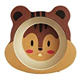 Yanhonin Assiette pour Bébé en Bambou, Antidérapante Bols pour Bébé,...
