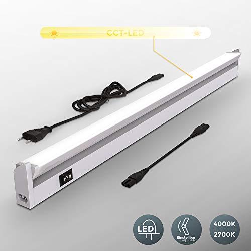 Lampada sottopensile cucina LED, Luca bianca neutra o calda, LED integrati 8W, Lunga 55.7 cm, luce...