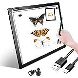 XIAOSTAR A3 LED Tavoletta Luminosa per Disegno, Super Sottile, tracciare Il Tavolo Cavo USB con luminosità Regolabile per Tracing Light Box con Cavo Type-C per Pittura, Disegno, Animazione