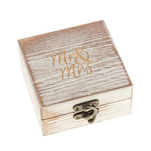 Ella Celebration Wood Ring Box for Wedding Ceremony Rustic...