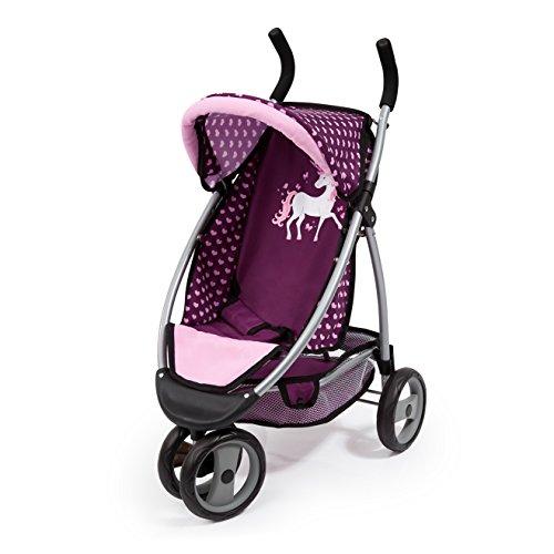 Bayer Design 39937AA Doll Passeggino Jogger Sport con Carrello Integrato, Bell, Unicorn Style, Rosa,...