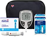 Contour Next EZ Diabetes Testing Kit | Contour Next EZ Blood Glucose Meter, 100 Contour Next Blood Glucose Test Strips, 100 Lancets, Lancing Device, Log Book, User Manuals and Carry Case
