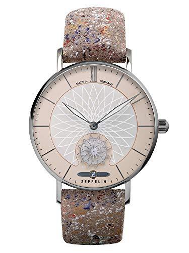 Zeppelin Damenuhr Mandala mit Leder-Armband 8131-5