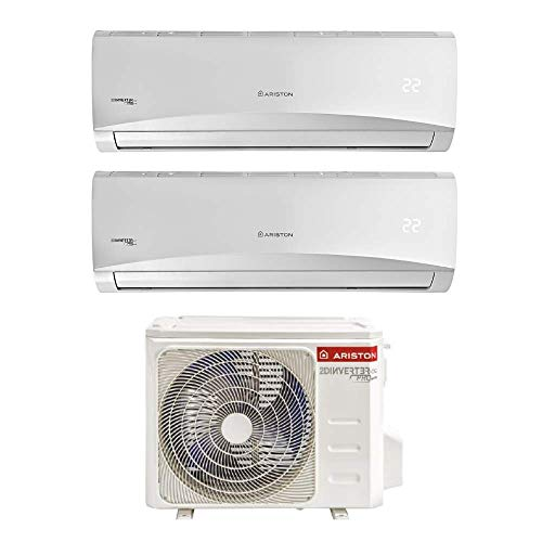 Ariston Prios 9+12 Climatizzatore Fisso Dual Split WI-FI Ready[Classe di efficienza energetica A++]