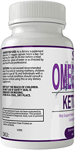 Omegamaxx Keto Pills 800mg Advanced Ketones BHB Omega Maxx Ketogenic Supplement for Weight Loss Pills 60 Capsules 800 MG GO BHB Salts to Help Your Body Enter Ketosis More Quickly 3