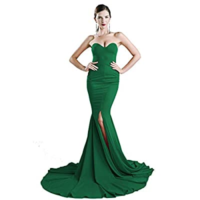 ✔Style: Sleeveless sexy wrapped chest asymmetric slit front maxi dress floor length party dress ✔Fabric: This whole dress is made by soft and stretchy fabric which can be extended 8-10cm. It can make you more comfortable even it's tightly fit ✔Featur...