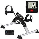 GOREDI Pedal Exerciser, Sitting Pedal Exerciser for Arm/Leg Workout, Portable Bike Pedal Exerciser