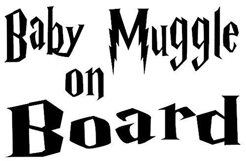 Pegatina Harry Potter Baby Muggle On Board Libro Película Vinil Para Carro Calcomanía Mural Decoración Para Recamara Niñas Cuarto Niño Estudio Sala Recibidor Harry Potter Sticker 10x15cm Por Nia Art …