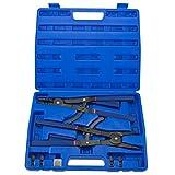 Hiltex 02016 16' Snap Ring Plier Set, 2 Piece | External and Internal Pliers | Straight, 45°, 90° Tips