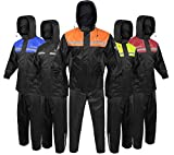 Alpha Cycle Gear Rain Suit for Men & Women Jackets Pant Gear Reflective Rainsuit Waterproof (ORANGE, 2X-LARGE)