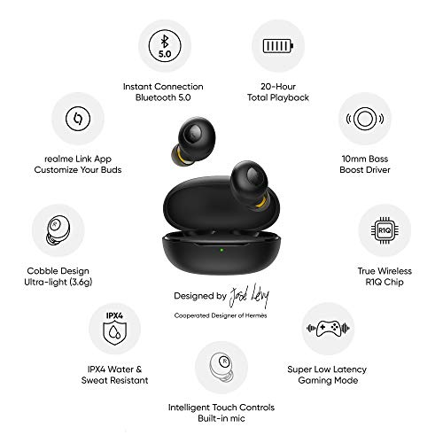 realme Buds Q in-Ear True Wireless Earbuds (Black) 7