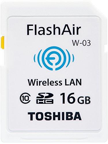 TOSHIBA 無線LAN搭載 FlashAir SDHCカード 16GB Class10 日本製 (国内正規品) SD-WE016G