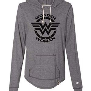 "Womens Light Weight Champion Hoodies ""Wonder Woman"" Royaltee Superhero Workout Collection"
