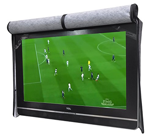 """A1Cover Outdoor 55"""" TV Set Cover ,Scratch Resistant Liner Protect LED Screen Best-Compatible with Standard Mounts and Stands (Black)"""