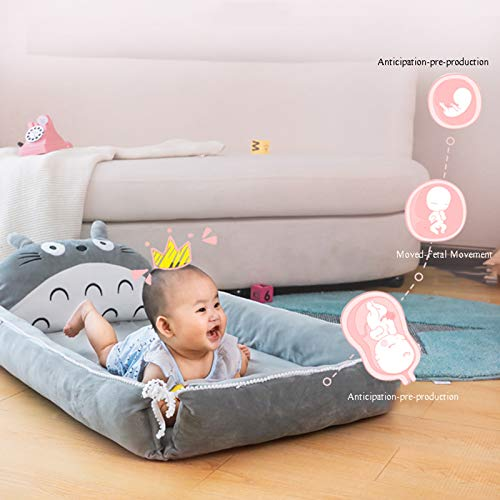Product Image 2: VIVITG Cartoon Totoro Baby Bed Stuffed Sofa Infant Chair Plush Cute Anime Sofa Bed, for Kids Baby Play Mat Floor Mat, 906035cm