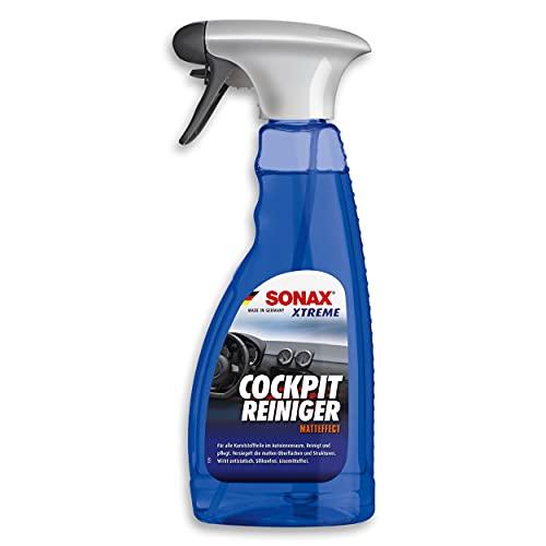 SONAX XTREME Limpiador de Cockpit efecto mate (500 ml) limpia salpicaderos y cuida las superficies plásticas en el interior del automóvil | N.° 02832410-544