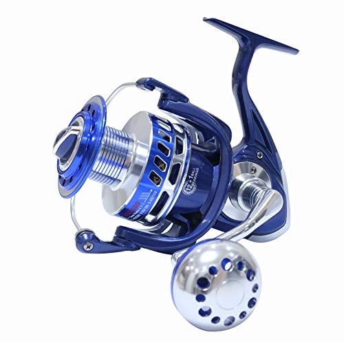 HiUmi 30 kg di potenza trascinare Saltiga allo stesso modo mulinelli di filatura Heavy Duty pesca pesca pesca pesca Jigging bobina 4000 5000 6000 7000 8000 9000 (4000)