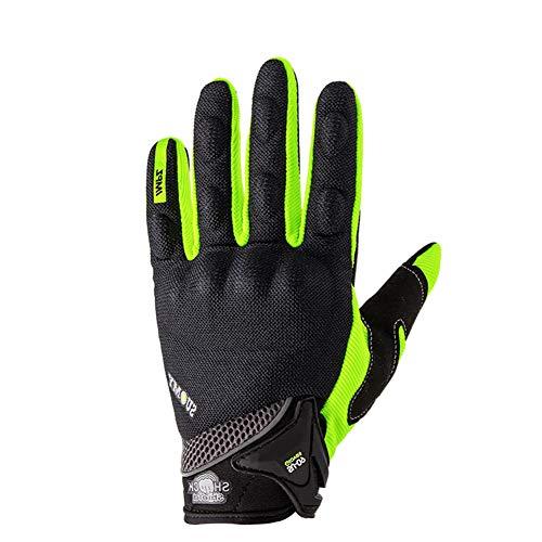 DishyKooker - Guanti estivi a dita intere, da motocicletta, per touch screen, protettivi, da uomo,...