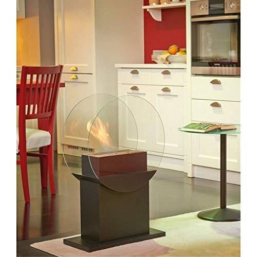 Tecno Air System Venezia Indoor Freestanding Fireplace Bio-Ethanol Black–Fireplace (500mm, 240mm, 780mm, 10kg)