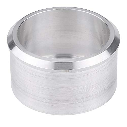 Cuque Motocross Motorcycle Exhaust Pipe Adapter - Reducer Muffler Connector Exhauster Muffler Adapter Aluminum 60mm to 51mm (2.4inch to 2inch) Silver