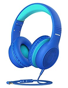 Built in Microphone, Hi-fi Stereo Sound: The kids headphones with mic is convenient for kids' on-line learning and communication at home; Stereo kids headphones with excellent sound effect, the best partner for your children to study, listen to music...