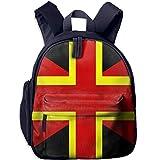 Yuanmeiju Bandera Italiana Estudiante Mochilas Escolares Pies Super Bookbag