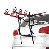 FIERYRED Trunk Mounted Bike Rack for Most Car SUV (Sedans/Hatchbacks/Minivans) 3-Bike Trunk Mount Bicycle Carrier Rack, 1 Year Warranty