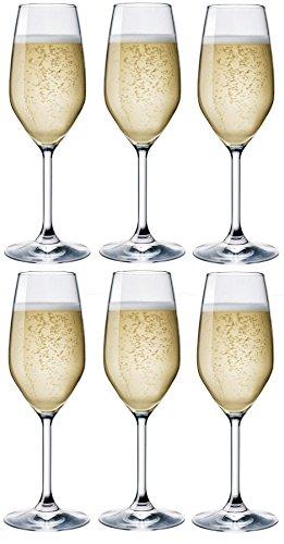 Bormioli Rocco Divino Flute da Champagne - Lotto di 6 - 240ml (8 once), 76653