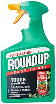 Roundup 117831 Tough Weedkiller, Ready to Use, Spray, 1 Litre