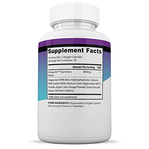 Keto Diet Pills Burn Shred BHB Salts Advanced Ketogenic Supplement Exogenous Ketones Ketosis Weight Loss Fat Burner Boost Energy Metabolism Men Women 60 Capsules (5 Bottles) 3