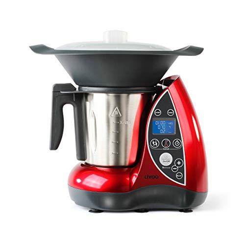 Domoclip DOP142Küchenmaschine mit Kochfunktion, rot