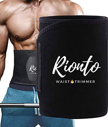 Rionto Sweat Belt for Men and Women – Waist Trainer Sauna Belt, Supports Lower Back (Large)