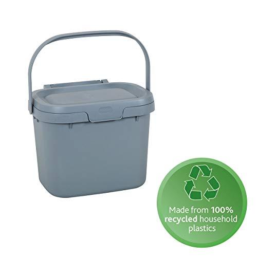 Addis, Komposteimer für Lebensmittelabfälle für die Küche, Aus recyceltem Kunststoff, hellgrau, Compost Caddy