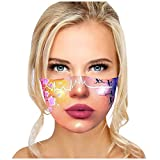 N / A Mundschutz 3D Lustige Maske Erwachsene Waschbar Stoffmaske Mehrweg Atmungsaktiv Tuch Halstuch Bandana Motive Mund und Nasenschutz Wiederverwendbar Multifunktional Staubschutz (H)