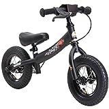 Bikestar Vélo Draisienne Enfants pour garcons et filles de 2-3 ans | Vélo sans pédales évolutive 10 pouces sportif | Noir