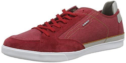 Geox U WALEE A, Zapatillas Hombre, Rojo (Red C7000), 39 EU