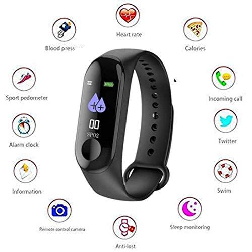 Wunderschon Fitness Waterproof Bracelet Watch Activity Tracker with Heart Rate Monitor