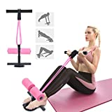 Tikaton Sit Up Bar with Resistance Bands, Portable Adjustable Sit Up Assistant Device, Ab Workout Equipment with Suction Cups, Support Rode, Ab Exercise Machine for Home Work Travel