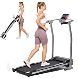 Aceshin Folding Treadmill Electric Running Machine Auto Stop Safety Function Treadmill with LCD...