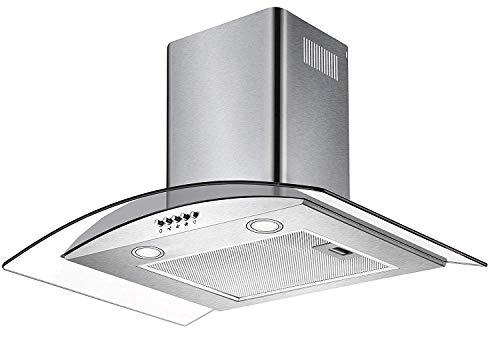 CIARRA CBC6S506 Cappa Aspirante, 60 cm, 550 m/h, Controllo Pulsanti, Filtro per CBCF004, Luce LED,...