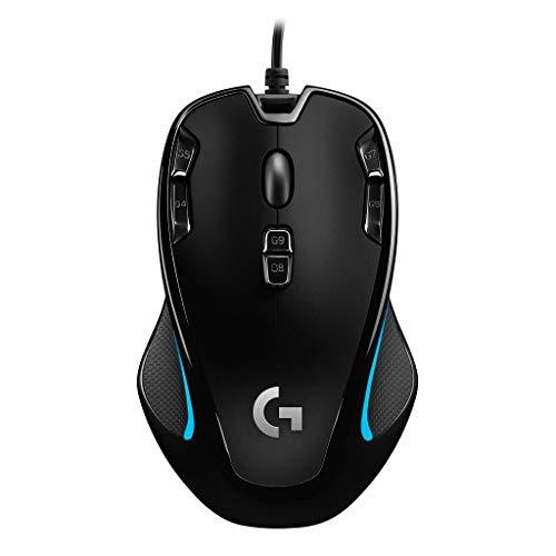 Logicool G ゲーミングマウス 有線 G300Sr 左右対称 軽量 プログラムボタン9個 高精度dpi 国内正規品