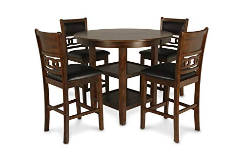 New Classic Furniture Gia Counter Dining Set, Brown