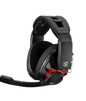 Sennheiser GSP 600 – Wired Closed Acoustic Gaming Headset, Noise-Cancelling Microphone, Adjustable Headband with Customizable Contact Pressure, Volume Control, PC + Mac + Xbox + PS4, Pro – Black/Red