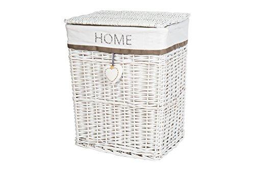 Wäschekorb weiß Wäschesammler mit Deckel WS641