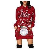 Zilosconcy Vestido Navidad Mujer Rebajas Talla Grande Vestido Largo Moda...