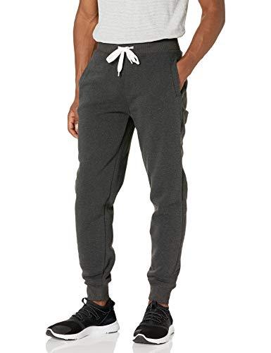 Southpole Men Active Basic Jogger Fleece Pants, New Heather Charcoal, XL