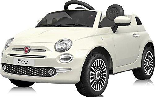 電動乗用カー フィアット500 FIAT500 電動乗用玩具 乗用玩具 [701] (ホワイト)