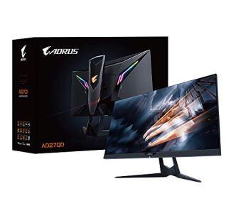 Aorus AD27QD 27' 144Hz 1440P FreeSync G-Sync Compatible Gaming Monitor, Exclusive Built-In ANC, 2560x1440 QHD Display