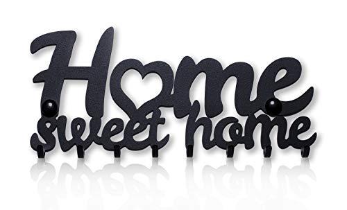 Home Sweet Home Portachiavi da Muro (8- Ganci) Decorativo, Ganci in Metallo per Porta d'ingresso, Cucina, Garage   Organizza le Chiavi di Casa, Lavoro, Macchina, Veicoli   Arredamento Vintage8
