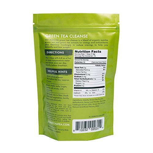 360 Nutrition Green Tea Detox Cleanse | 15 Servings | Weight Loss, Senna Leaf and Garcinia Cambogia Powder 3